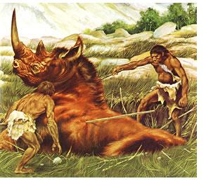 uomo cacciatore paleolitico