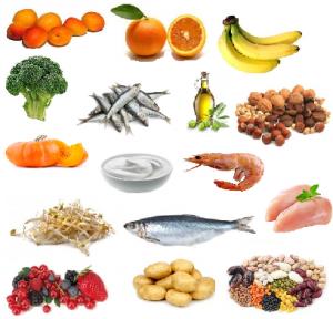 La varietà degli alimenti è la prima difesa contro gli effetti della carenza di Vitamine e Sali minerali.