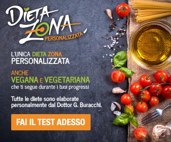 Dieta Zona Personalizzata Online - anche Vegana e Vegetariana