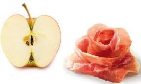 mezza mela e prosciutto dieta zona