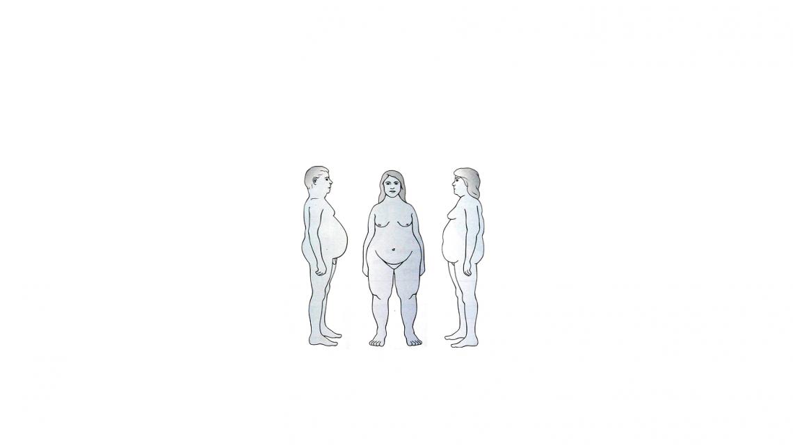 grasso nei due sessi