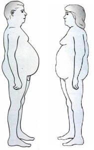 Obesità di tipo Androide nell'uomo e nella donna. La più pericolosa