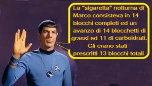 Storia di Marco: Faccio la dieta dell'Astronauta. Da Lunedì mi metto a dieta