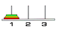 torre di hanoi partenza